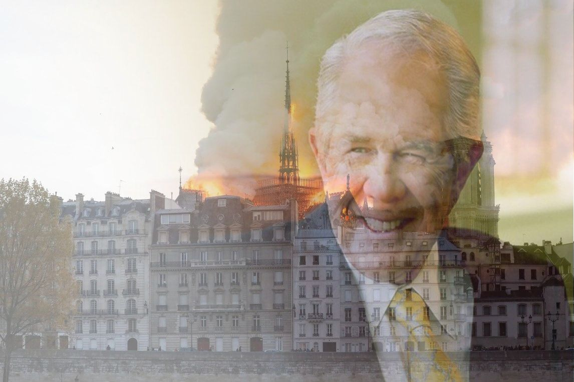 "Pat Robertson claims Notre Dame Cathedral fire the result of ""Hell bubbling over with burning homosexuals"""