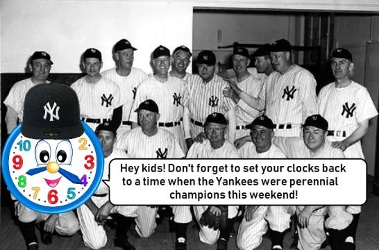yankees clock